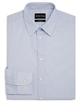 Armani - Micro-Dash Regular Fit Dress Shirt