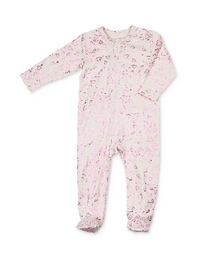 Egg by Susan Lazar Girls' Foil Heart Print Footie - Baby