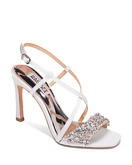 Badgley Mischka - Women's Elana Crystal-Embellished High-Heel Sandals