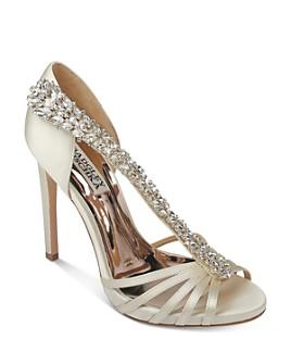Badgley Mischka - Women's Emma Crystal-Embellished High-Heel Sandals