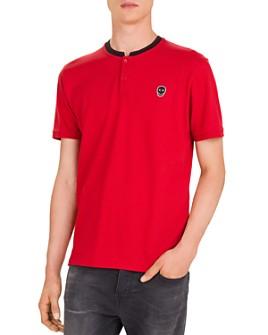 The Kooples - Skull Patch Piqué Regular Fit Polo Shirt