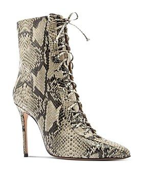 SCHUTZ - Women's Anaiya Snake-Embossed High-Heel Booties