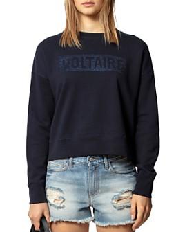 Zadig & Voltaire - Rhinestone Logo Sweatshirt