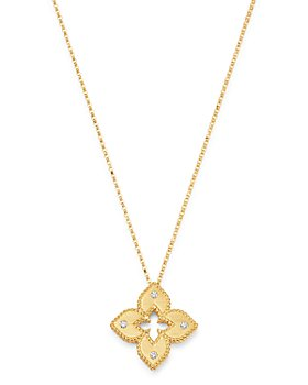 Roberto Coin - 18K Yellow Gold Petite Venetian Princess Diamond Pendant Necklace, 17""