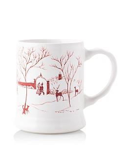 "Juliska - Country Estate Winter Frolic ""Mr. & Mrs. Claus"" Ruby Mug"