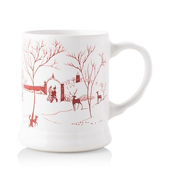 "Juliska - Country Estate Winter Frolic ""Mr. & Mrs. Claus"" Ruby Mug"