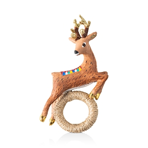 Juliska Reindeer Napkin Ring, Set of 4