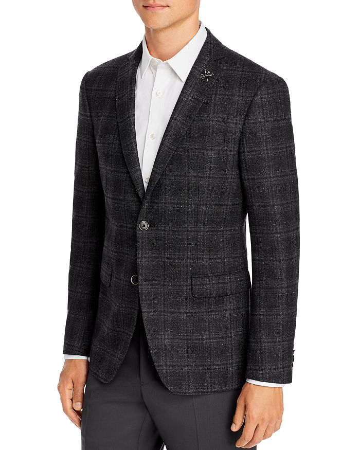 John Varvatos Star USA - Mélange Plaid Slim Fit Sport Coat