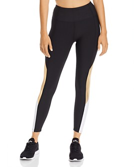 AQUA - Color-Block High-Rise Leggings - 100% Exclusive