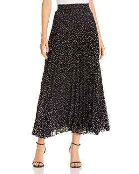 Armani - Pleated Polka Dot-Print Maxi Skirt