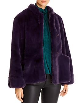 Armani - Button-Front Faux-Fur Coat