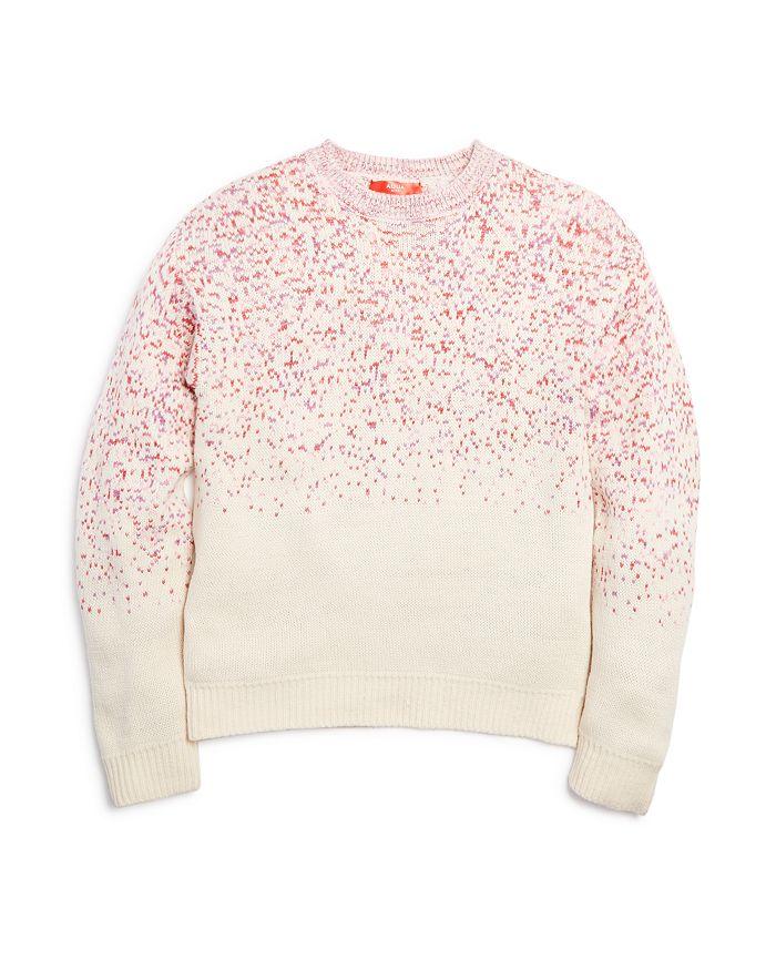 AQUA - Girls' Speckled Knit Sweater, Big Kid - 100% Exclusive