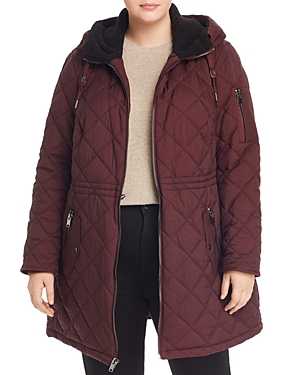 Marc New York Plus Cascade Hooded & Quilted Parka