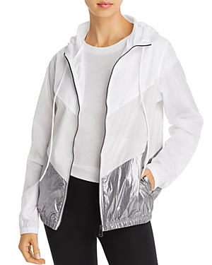 Aqua Athletic Metallic Hem Windbreaker - 100% Exclusive