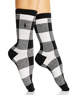 Ralph Lauren - Oversized Buffalo Check Boot Socks