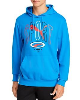 PUMA - 90's Retro Graphic Logo Hooded Sweatshirt