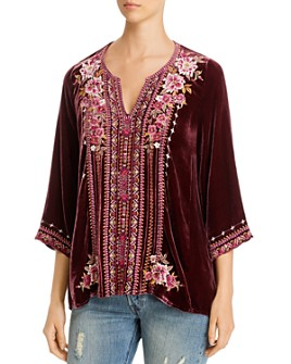 Johnny Was - Valmere Embroidered Velvet Tunic
