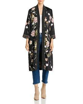 Johnny Was - Velvet Trim Floral Kimono