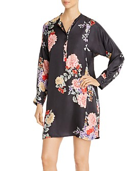 Johnny Was - Edine Floral Silk Tunic Dress
