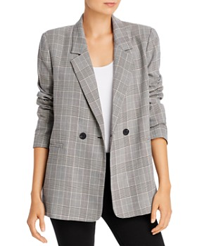 AQUA - Oversize Plaid Blazer - 100% Exclusive