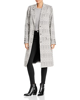 WAYF - Marly Snake Print Coat