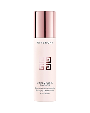 What It Is: Travel-friendly, express and anti-fatigue, L\\\'Intemporel Blossom Cream-in-Mist moisturizes the skin while giving radiance and freshness any time of day. What It Does: Givenchy reinvents the classic cream with travel-friendly, express-application anti-fatigue care. The formula sprays on in a fine mist to fully deliver its moisturizing and revitalizing properties. Infused with The Blossom Glow Complex, the skin seems soft and smooth and appears more radiant and visibly more beautiful. K