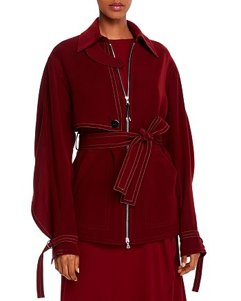 Yigal Azrouel - Belted Cape-Detail Crepe Jacket