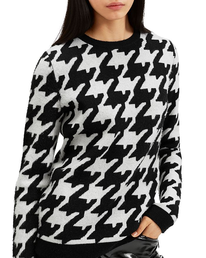 Barbara Bui - Oversized Houndstooth-Print Wool & Cashmere Sweater