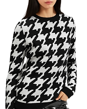 Barbara Bui Oversized Houndstooth Print Wool & Cashmere Sweater