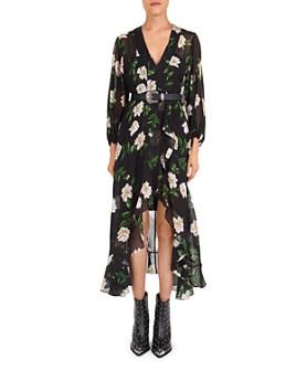 The Kooples - Allure Ruffled Floral Midi Dress