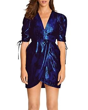 Alice McCall - Salvatore Metallic Puff-Sleeve Mini Dress