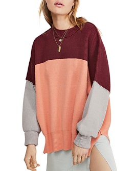 Free People - Easy Street Color-Block Sweater