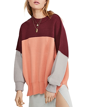 Free People Sweaters EASY STREET COLOR-BLOCK SWEATER