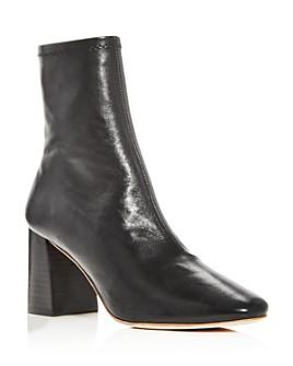 Loeffler Randall - Woman's Elise Square Toe Block Heel Booties