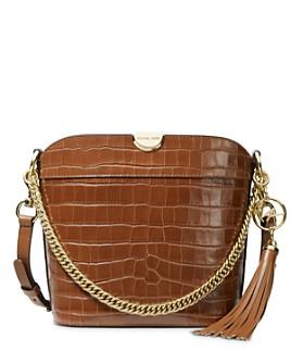 MICHAEL Michael Kors - Bea Medium Croc-Embossed Leather Bucket Bag