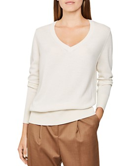 REISS - Luna Cashmere V-Neck Sweater