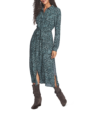 1.state Dresses SNAKE PRINT SHIRT DRESS