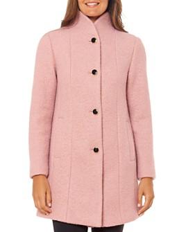 kate spade new york - Stand-Collar Textured Coat