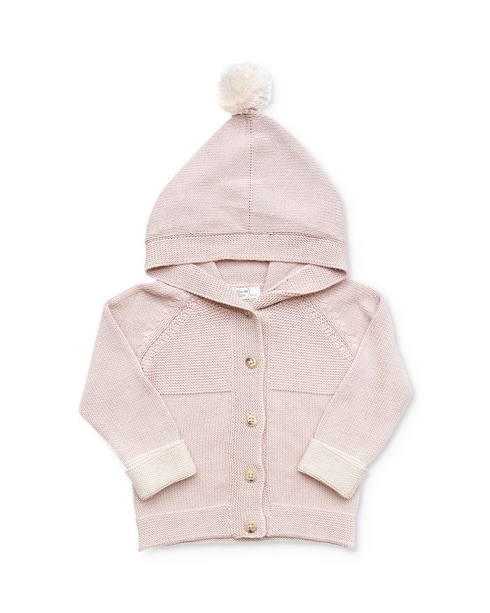 Tun Tun - Girls' Pom-Pom Hooded Cardigan - Baby