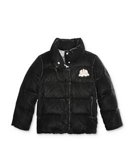 Ralph Lauren - Girls' Quilted Velvet Down Jacket - Big Kid