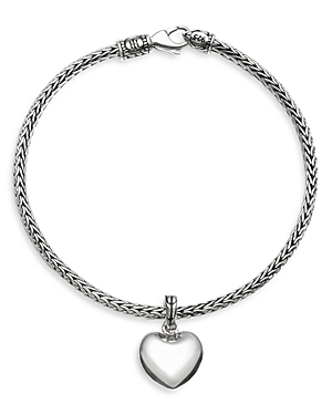 John Hardy Sterling Silver Classic Chain Heart Charm Mini Chain Bracelet-Jewelry & Accessories