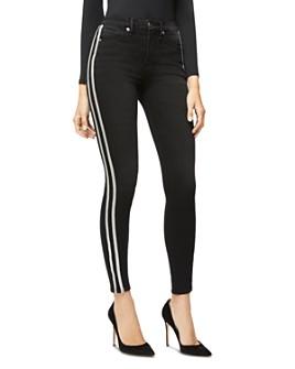 Good American - Good Legs Athletic Stripe Jeans in Black064