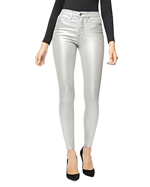 Good American Good Waist Metallic Jeans in Silver003-Women