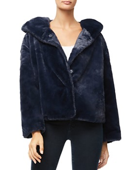 Good American - The Hooded Faux Fur Jacket