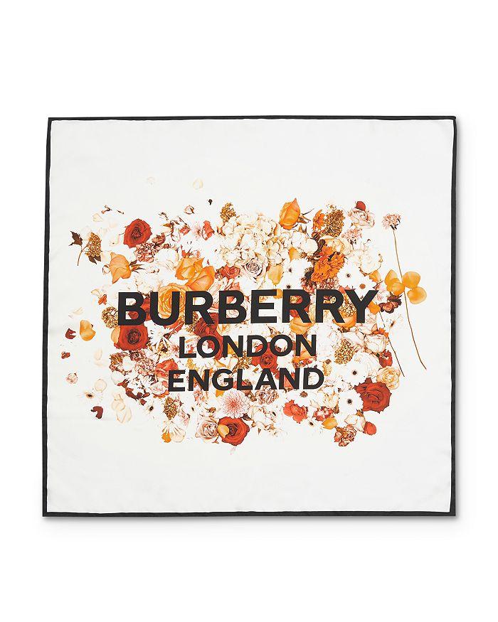 Burberry - Photo Floral Logo Silk Scarf