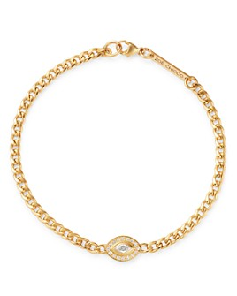 Zoë Chicco - 14K Yellow Gold Paris Diamond Evil Eye Halo Bracelet