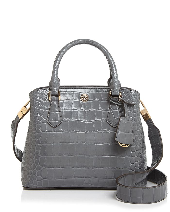 Tory Burch - Robinson Embossed Small Leather Satchel