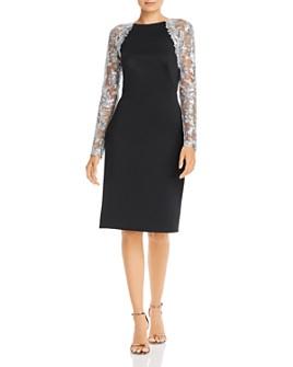 Tadashi Shoji - Metallic Lace Neoprene Dress