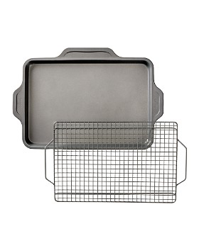 All-Clad - Pro-Release Bakeware Half Sheet Pan with Cooling & Baking Rack