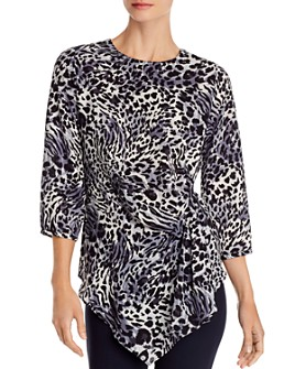 Status by Chenault - Ruched Leopard-Print Top